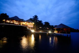 Loango Lodge by night